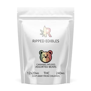 ripped-edibles-thc-gummies-assorted-bears-bcweedonline-buy