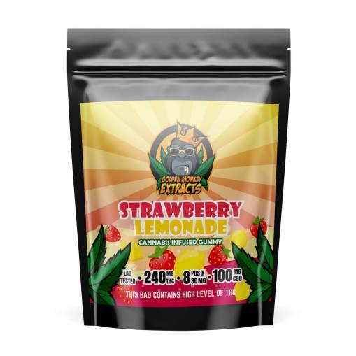golden-monkey-extracts-thc-gummies-strawberry-lemonade-bcweedonline