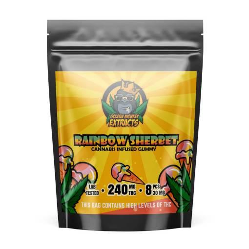 Golden-Monkey-gummies-buy-online-canada-rainbow-sherbet-bcweedonline